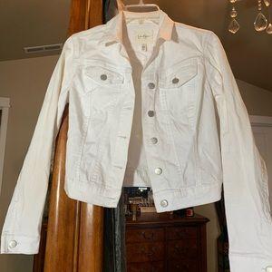 Jessica Simpson White Denim Coat